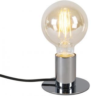 Moderná stolová lampa chróm - Facil