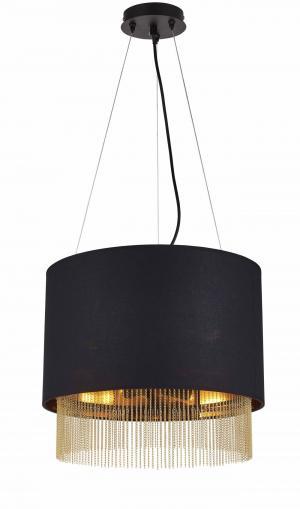 Moderné svietidlo SearchLight 3LT PENDANT BLACK 8723-3BK