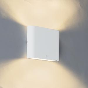 Moderné vonkajšie nástenné svietidlo biele 11,5 cm vrátane LED - bat