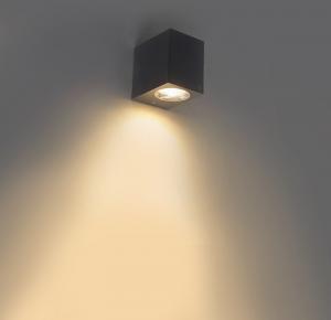 Moderné vonkajšie nástenné svietidlo šedé IP44 - Baleno I.
