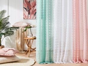 Moderné záclony do izby v béžovej farbe
