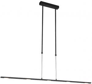 Moderné závesné svietidlo LED čierne - tučné