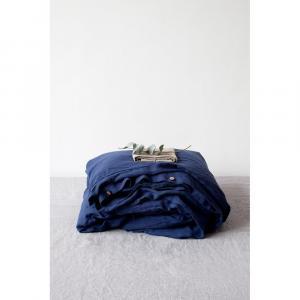 Modrá ľanová obliečka na perinu Linen Tales, 140 x 220 cm