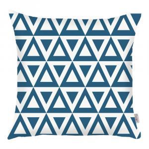Modrá obliečka na vankúš Apolena Triangle, 43×43 cm