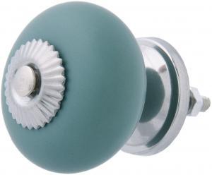 Modro-šedá vitage úchytka - Ø 4*3 cm