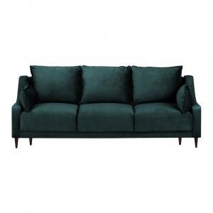 Modro-zelená trojmiestna rozkladacia pohovka Mazzini Sofas Freesia