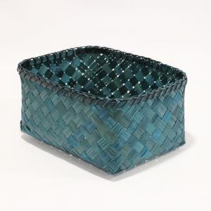Modrý úložný kôšík z bambusu Compactor