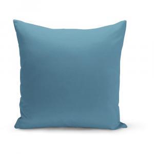 Modrý vankúš s výplňou Lisa, 43×43 cm