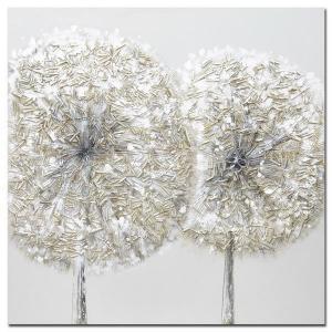 Monee OLEJOMAĽBA, abstraktné, 55/55 cm - modrá, hnedá, sivá, čierna, biela