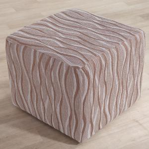 Monoelastické poťahy CASIOPEA béžové taburetka (š. 40 x 60 cm)