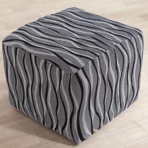 Monoelastické poťahy CASIOPEA šedé taburetka (š. 40 x 60 cm)