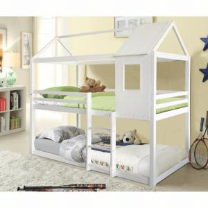 Tempo Kondela Montessori poschodová posteľ, biela, 90x200, ATRISA