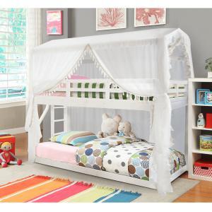 Tempo Kondela Montessori poschodová posteľ, biela, 90x200, ZEFIRE