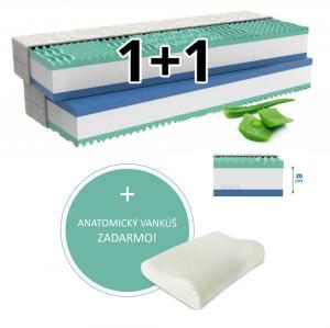 MPO Ortopedický matrac 1+1 ALOE COMFORT 2 ks 180 x 200 cm Poťah matraca: Easy Clean - strečový