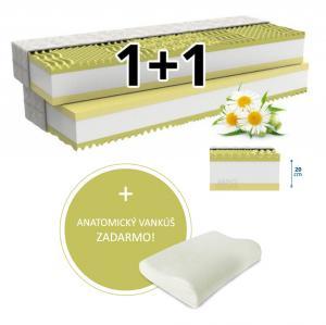 MPO Ortopedický matrac 1+1 CAMOMILLO COMFORT 2 ks 140 x 200 cm Poťah matraca: Easy Clean - strečový