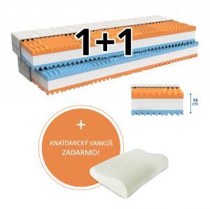 MPO Partnerský matrac 1+1 FANTASY 2 ks 80 x 200 cm Poťah matraca: Health Care - nepremokavý