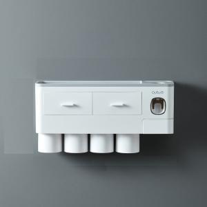 Multifunkčný nástenná polica do kúpeľne Farba: šedá, Veľkosť: M