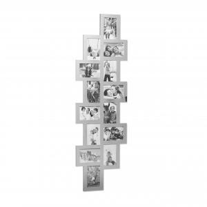 Multirám na 14 fotiek 10x15cm, rd1994, 118cm strieborný