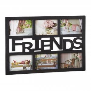 Multirám na 6 fotiek Friends čierny 6x 10x15cm RD1992