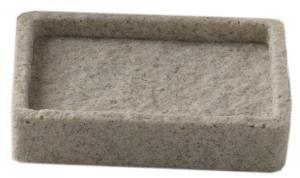 Mydelnička ARIES, imitácia kameňa, 3 farby - béžová