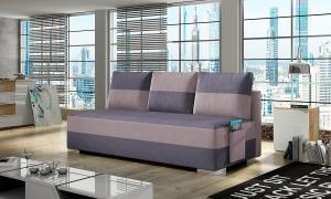 NABBI Adria rozkladacia pohovka s úložným priestorom fialová / ružová