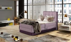 NABBI Alessandra 90 P čalúnená jednolôžková posteľ ružová / fialová
