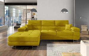 NABBI Alkazar L rohová sedačka s rozkladom a úložným priestorom žltá