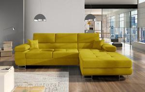 NABBI Alkazar P rohová sedačka s rozkladom a úložným priestorom žltá