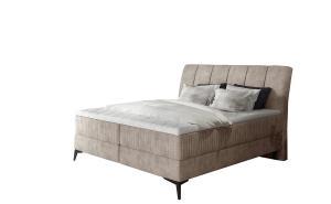NABBI Altama 140 čalúnená manželská posteľ s úložným priestorom béžová