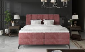 NABBI Altama 160 čalúnená manželská posteľ s úložným priestorom hnedá