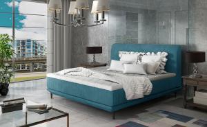 NABBI Ancona 180 čalúnená manželská posteľ tyrkysová