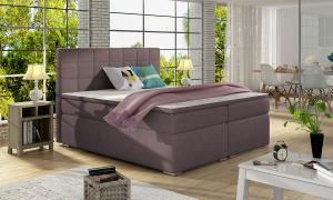 NABBI Anzia 140 čalúnená manželská posteľ s úložným priestorom fialová