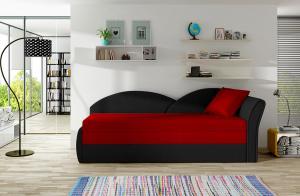 NABBI Arco P rozkladacia pohovka červená / čierna