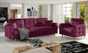 NABBI Aveza 3+1 rozkladacia sedacia súprava vínová