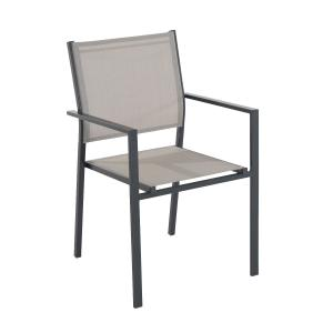 NABBI Axel záhradná stolička tmavosivá / taupe