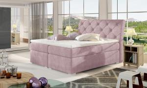 NABBI Beneto 140 čalúnená manželská posteľ s úložným priestorom ružová (Omega 91)