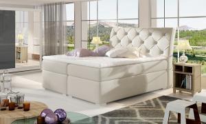 NABBI Beneto 160 čalúnená manželská posteľ s úložným priestorom béžová
