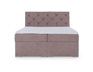 NABBI Beneto 180 čalúnená manželská posteľ s úložným priestorom ružová (Soro 61)