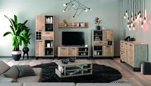 NABBI Bova obývacia izba pieskový dub / woodcon