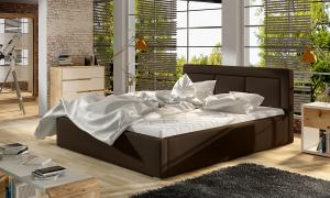 NABBI Branco 160 čalúnená manželská posteľ s roštom tmavohnedá (Soft 66)