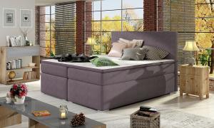 NABBI Diana 140 čalúnená manželská posteľ s úložným priestorom fialová