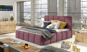 NABBI Evora 140 čalúnená manželská posteľ ružová