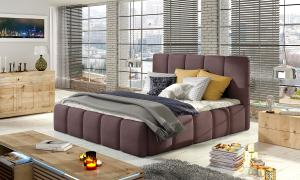 NABBI Evora 160 čalúnená manželská posteľ fialová