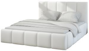 NABBI Evora 180 čalúnená manželská posteľ biela
