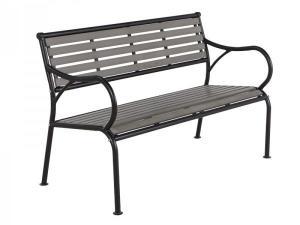 NABBI Gaya záhradná lavička čierna / sivá