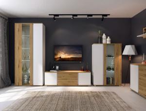 NABBI Giovanni obývacia izba dub artisan / biela