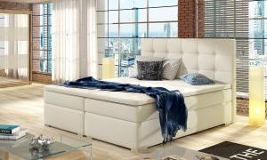 NABBI Isola 180 čalúnená manželská posteľ béžová