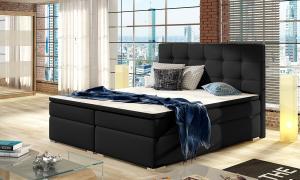 NABBI Isola 180 čalúnená manželská posteľ čierna (Soft 11)