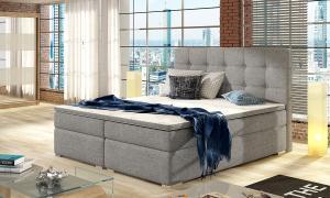 NABBI Isola 180 čalúnená manželská posteľ svetlosivá