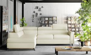 NABBI Korense L rohová sedačka s rozkladom a úložným priestorom béžová (Soft 33)